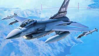 F-16 fighting falcon aircraft wars wallpaper