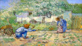 First steps post-impressionism vincent van gogh artwork paintings Wallpaper