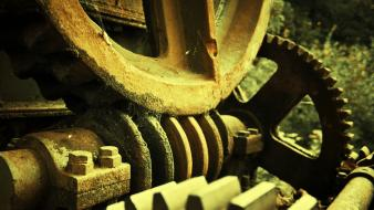 Gears machine machinery machines man-made wallpaper