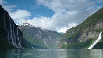 Geirangerfjord norway mountains wallpaper