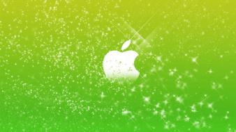 Green apple glitter wallpaper