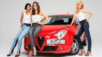 High heels alfa romeo girls with mito wallpaper