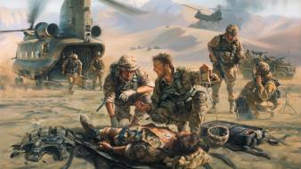 Iraq us rescue artwork ch-47 chinook wounds Wallpaper