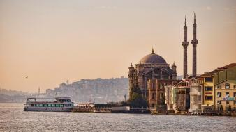 Istanbul ortaköy mosque turkey cityscapes wallpaper