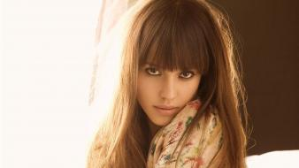 Jessica alba latina actress bangs brunettes wallpaper