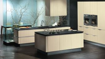 Kitchen interior designs wallpaper