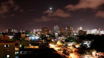 Landscapes night buildings colombia cities sky barranquilla Wallpaper