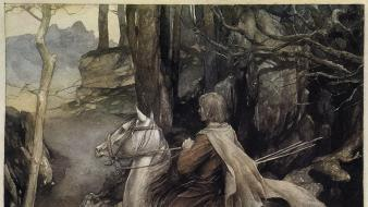 Medieval celtic mythology alan lee the mabinogion wallpaper