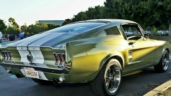 Mustang wheels fastback green american fast auto Wallpaper
