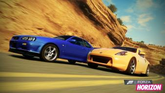 Nissan 370z skyline r34 gt-r forza horizon wallpaper