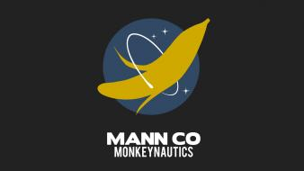 Outer space bananas team fortress 2 monkeys wallpaper