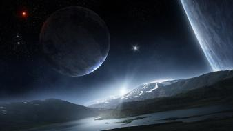 Outer space planets mass effect astronomy wallpaper