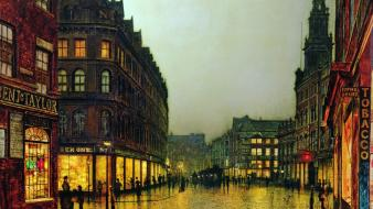 Paintings london artwork john atkinson grimshaw cities wallpaper