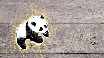 Panda bears artwork wallpaper