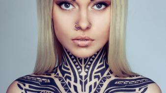 Piercings pierced nose faces teya salat russians wallpaper