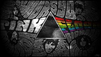 Pink floyd graffiti typography selective coloring faces wallpaper
