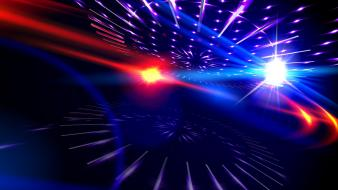 Red and blue lights abstract wallpaper