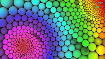 Spheres 3d colors wallpaper