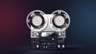 Stereo buttons recorder audioplayer reel to russians wallpaper