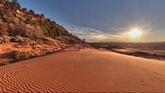 Sunset landscapes nature hills utah dunes wallpaper