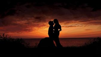 Sunset love romantic wallpaper
