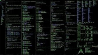 Text linux code arch wallpaper