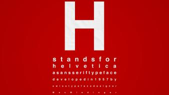 Typography helvetica font red background wallpaper