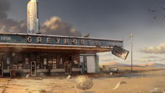 Video games desert bar wallpaper