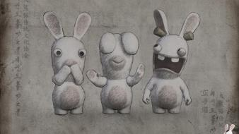 Video games rayman raving rabbids wisdom wallpaper