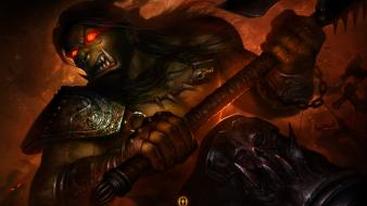 Video games world of warcraft artwork grom hellscream Wallpaper