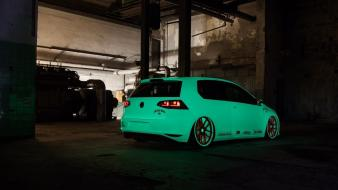 White cars tuning volkswagen golf wallpaper