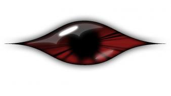 Abstract eye red wallpaper
