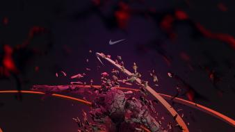 Abstract flames artistic sports basketball nike digital art wallpaper