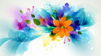 Abstract flowers colors wallpaper