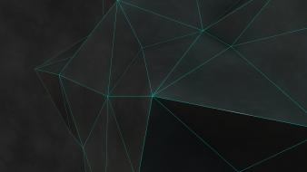 Abstract minimalistic geometry forms triangles wallpaper