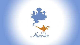 Aladdin disney company digital art lamps minimalistic wallpaper