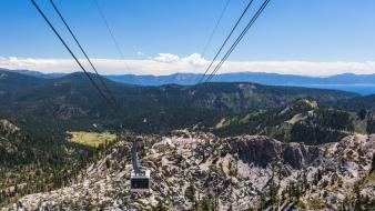 Alps hdr photography cable cars landscapes mountains wallpaper