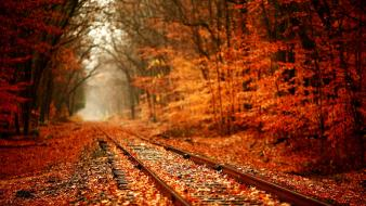Autumn railway wallpaper