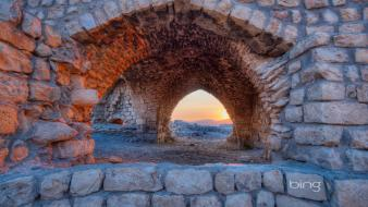 Bing israel sun arches ruins Wallpaper