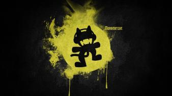 Black music yellow simple monstercat electronic wallpaper