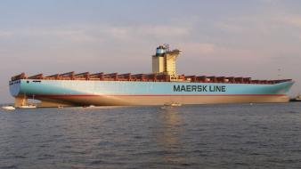 Boats emma maersk cargo ship wallpaper