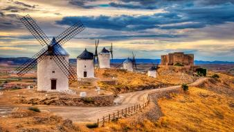 Bra farmhouse landscapes villages windmills wallpaper