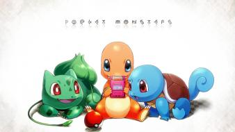 Bulbasaur charmander gameboy pokeball pokemon Wallpaper