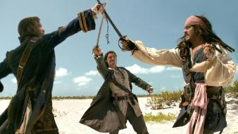 Captain jack sparrow swords davenport will turner wallpaper