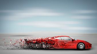 Cars digital art wallpaper