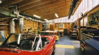 Cars tools workspace garage Wallpaper