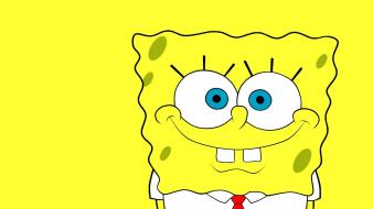 Cartoons yellow spongebob squarepants smiling necktie wallpaper