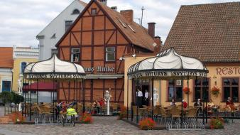 Cityscapes buildings lithuania klaipeda wallpaper