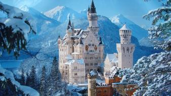Cityscapes buildings neuschwanstein castle Wallpaper