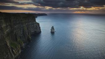 Cliffs ireland sea wallpaper